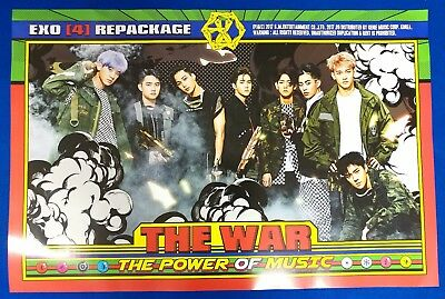 Exo - The War: The Power Of Music Repackage Official Poster New K-POP