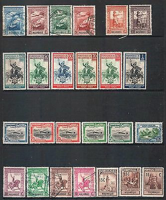 MOZAMBIQUE - Mixed lot of 25 Stamps incl Set, most Good Used - Mint, LH
