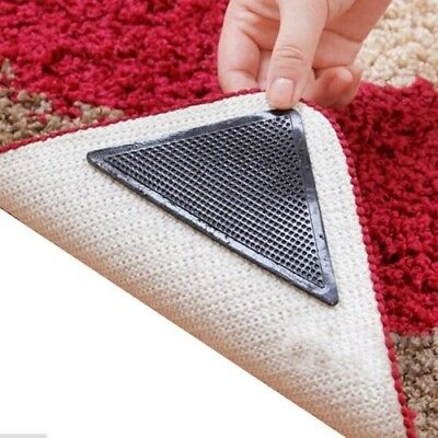 8 Pcs Rug Carpet Mat Grippers Ruggies Non Slip Skid Reusable Washable
