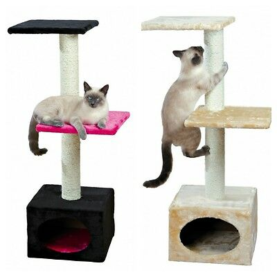 Badalona Trixie Small Cat Tree Scratching Post & Cave Beige or Fuchsia 109 cm