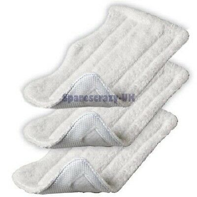 To Fit SHARK Steam Mop S3101 S3250 S3251 XT3101Microfibre Pads x3 Pack
