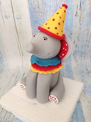Elephant Cake Cupcake Topper Birthday Christening Baby Shower Edible Circus