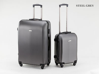 2PC 40L/100L Suitcases Luggage Trolley Travel Bag Set 4 Wheel Cabin CarryOn Case