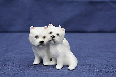 Vintage Beswick West Highland Terriers Dog Figurine England Adorable