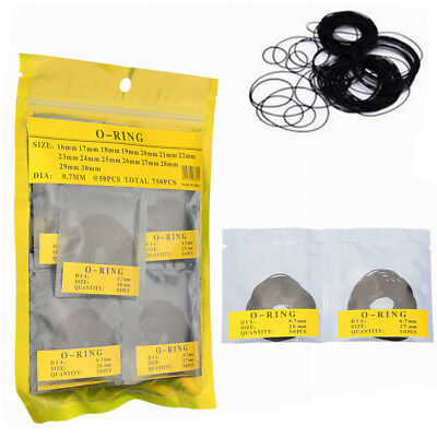 750 Pcs 0.7MM O-Ring Watch Back Gasket Rubber Seal Washers K6S8