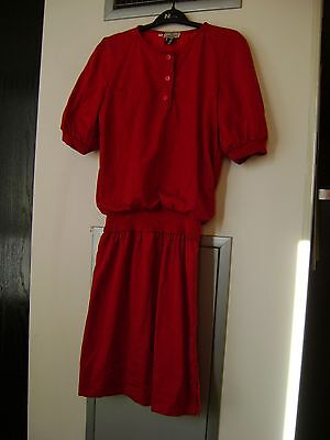 Authentic Lot of Valentino Red Dress & Pink Silk Blouse  'AS IS'