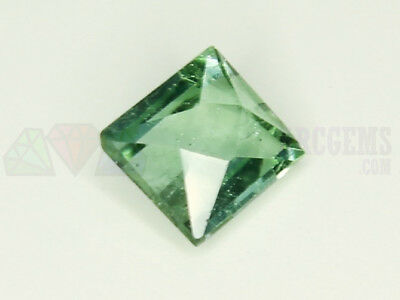 Indicolite Tourmaline VS 0.56ct Loose Natural Gemstone 5x5mm Afghanistan Step