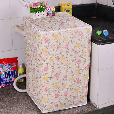 Waterproof Washing Machine Zippered Top Dust Cover Protection Durable Random @MW