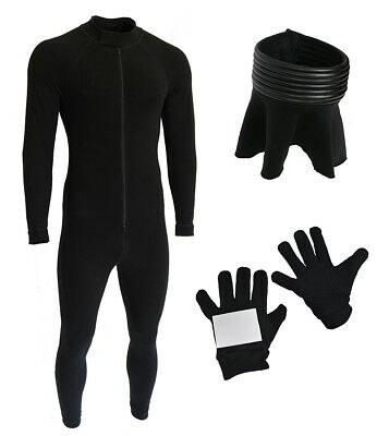 Lycra Bodysuit, Neck Seal and Gloves Bundle for Stormtrooper Costume - from USA