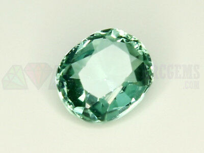 Indicolite Tourmaline VS 0.75ct Loose Natural Gemstone 5.5x6mm Afghanistan Oval