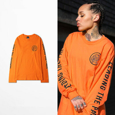 Unisex dope wolf Loose All-match Retro Monogrammed Long Sleeved Shirt