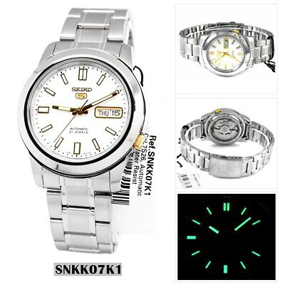 Seiko Analog Casual Watch 5 Automatic Silver Mens SNKK07K1