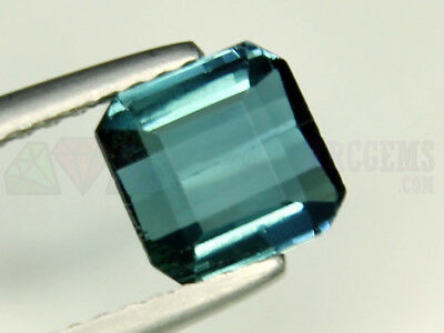 Indicolite Tourmaline VS 1.29ct Loose Natural Gemstone 6x6mm Afghanistan Octagon