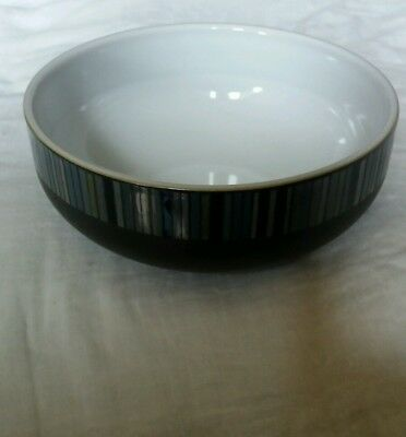 Denby Jet Stripes Cereal Bowl 6 Inches First Quality