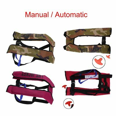 Adult Automatic Manual Inflatable Life Jacket 150N Sailing Boating Buoyancy Aid
