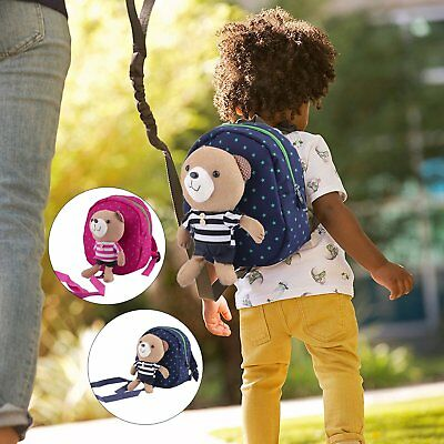 Baby Carrier Anti-Lost Harness Pack Kids Safety Backpack Striped 3D Bear Bag UK