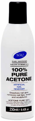 HAZ 100% Pure Acetone Nail Polish Varnish Tip Remover 250ml