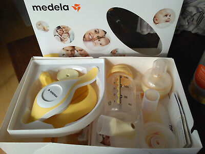 Medela Harmony  Hand-Milchpumpe inklusive Calma Muttermilchsauger plus Extras