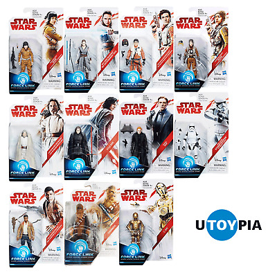 "STAR WARS THE LAST JEDI 3.75"" WAIVE 1 FIGURES - Complete Set of 11 [FORCE LINK]"