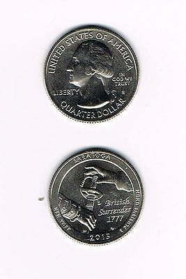 2015 S Atb Saratoga National Historical Park (Ny) Quarter - Bu