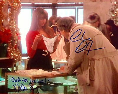 CHEVY CHASE Nicolette Scorsese Dual Signed Christmas Vacation Griswold Photo