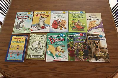 10 I Can Read Readers Easy Beginner Books Lot Biscuit Mittens Dixie Level 1 2