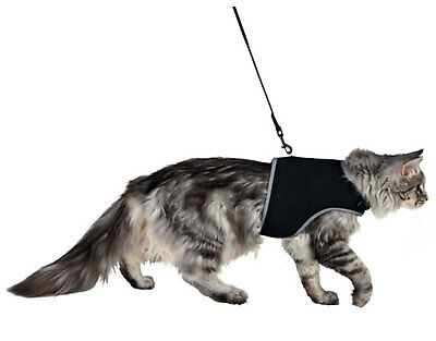 Trixie Cat Soft Harness with Lead Leash Reflective Adjustable S/M Kitten Mesh