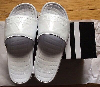 New adidas Voloomix GR Men's Slide Sandals Shoes White 7-13