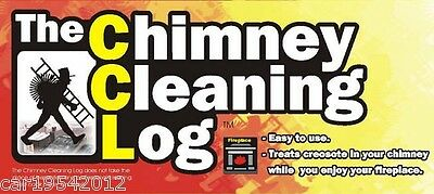 2 x Chimney Cleaning Log Coal Fires Cleaner Fire Wood Burning Creosote Stove
