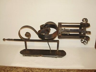 Spanish Revival Huge- Wrought Iron Wall Torch Light -Electric