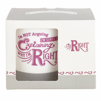 Chasing Rainbows I'm Right Mug, 300ml - Gift Boxed