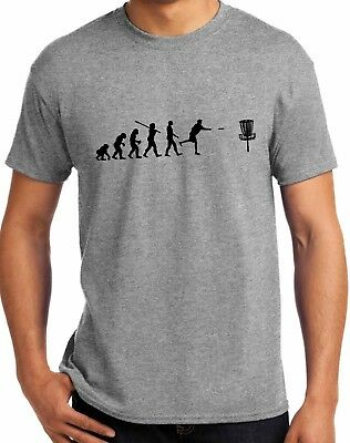 Awesome Evolution of Disc Golf T-shirt -FREE SHIPPING- [A6V] BRAND NEW!