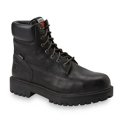 """Timberland 26038 PRO Men's 6"""" Steel Toe Direct Attach Black Work Boots Size 8.5"""