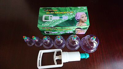 6 Cups & Pump Cupping Sets Hijama Acupunture Therapy Chinese Vacuum Traditional