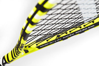 Salming Forza Pro Aero Vectran Squash Racquet - Yellow/Black/White