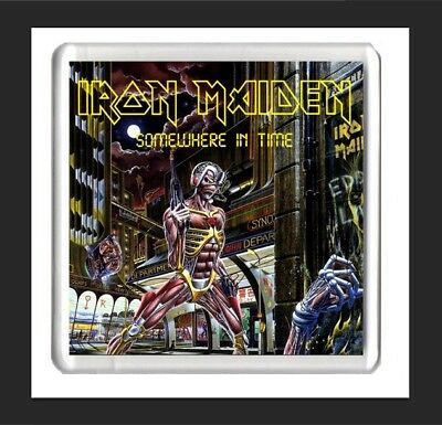 iron maiden album art fridge magnet, somewhere in time