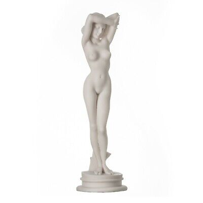"Naked Nude Sexy Female Woman Aphrodite Alabaster Statue Sculpture 9.84"" 25cm"