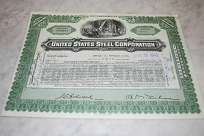 Stock Certificate - UNITED STATES STEEL CORPORATION – NEW JERSEY 1942