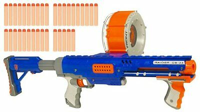 Hasbro - 92356 Nerf N-Strike Raider Rapid Fire CS-35 Dart Blaster Blue