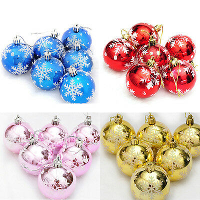 New 6pcs Christmas Tree Decorations Balls Baubles Party Wedding Home Ornament FT