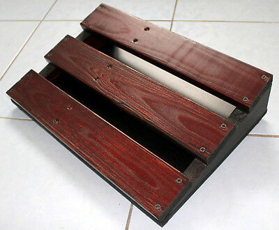 Jonoboard Pedal Board for Guitar Bass Vocal Effects Pedals FX Sloped Wooden