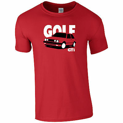 VW Golf GTi Inspired Mk2 Inspired Mens T-Shirt Gift For Dad, Uncle, Brother ETC