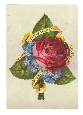 New Home Sewing Machine Trade Card Bouquet of Flowers