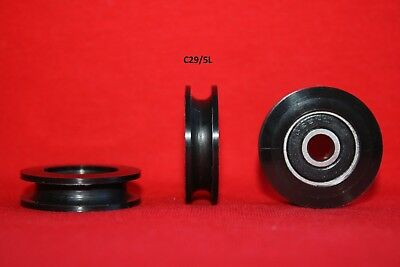 29MM Round U and V Groove Nylon Pulley Wheels Roller for Rope Ball Bearing
