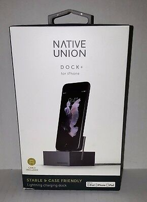 Native Union - DOCK+ for Apple Lightning Devices iPhone 7 & 7 Plus Slate Gray