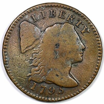 1795 S-75 R-3 Lettered Edge Liberty Cap Large Cent Coin 1c