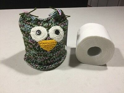 Owl,vintage/retro Design, Toilet Roll Cover, Hand Knitted, New