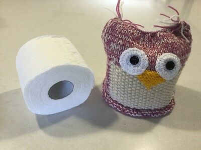 Quirky Owl, Retro/Vintage Style Large Size Toilet Roll Cover, New