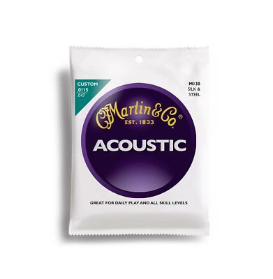 Martin Acoustic Guitar Strings-11-5-to-47 Silk and Steel String M130
