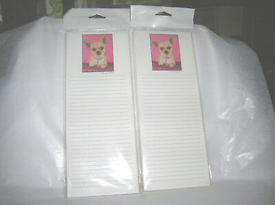 2 New Lined Chihuahua Dog List Pads